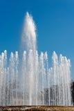 在广场Castello - Lombardia米兰的喷泉 免版税库存图片