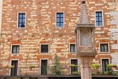 在广场dei绅士的临时房屋在维罗纳,意大利 免版税库存照片