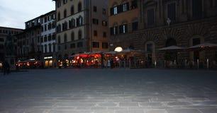 在广场della signoria,佛罗伦萨的中心的纪念碑大厦  免版税库存照片