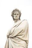 但丁雕象在佛罗伦萨,意大利 库存图片