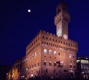 在广场Signoria佛罗伦萨意大利的Palazzo Vecchio 免版税库存图片