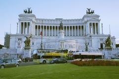 在广场Venezia的Vittoriano大厦在罗马 免版税库存图片
