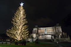 在广场Venezia,罗马的圣诞节 免版税图库摄影