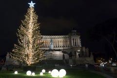 在广场Venezia,罗马的圣诞节 免版税库存照片