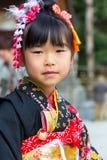 在广岛Gokoku寺庙的Shichi去圣庆祝 免版税图库摄影