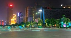 在广州塔附近的夜曲 免版税库存照片