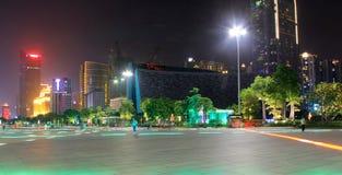 在广州塔附近的夜曲 库存图片