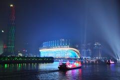 在广州小行政区中国的龙小船 免版税库存照片