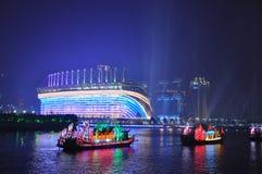 在广州小行政区中国的龙小船 库存图片