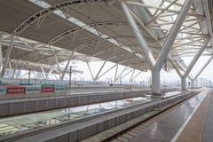 在广州瓷的火车站 免版税库存图片