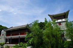 在广州,中国荔枝海湾的一座城堡  免版税库存图片