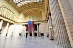 在广角的联合驻地,芝加哥 库存图片