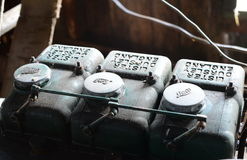 在庄园Herberton的老英国柴油引擎制表人 免版税图库摄影