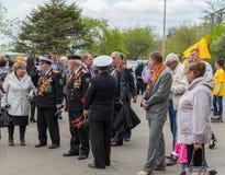 在庆祝期间的未认出的退伍军人致力了于胜利天 图库摄影