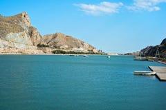 在库埃瓦斯德拉尔曼索拉水库的看法 图库摄影