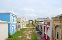 在库拉索岛海岛上的色的公墓 免版税库存照片