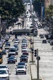 在库里奇巴街道上的交通  图库摄影