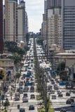 在库里奇巴街道上的交通  库存照片