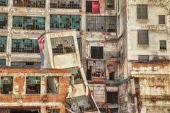 在底特律工厂的城市衰退 免版税库存图片