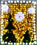 在店面的抽象圣诞树 图库摄影