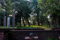 在废墟的美丽的风景照片和anuradhapura的古老地方 图库摄影