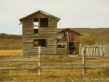 在废墟的老风雨棚。 图库摄影