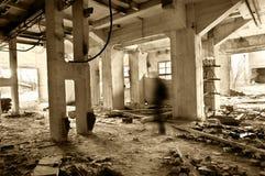 在废墟的鬼魂 库存图片