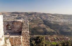 在废墟的Ajloun城堡 免版税库存照片
