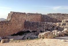 在废墟的Ajloun城堡 免版税库存图片