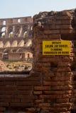 在废墟禁止的上升 免版税库存照片