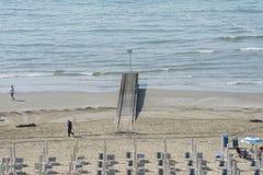 在度假在Lido二耶索洛(对海滩的看法的) 免版税图库摄影