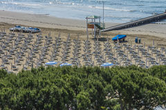 在度假在Lido二耶索洛(对海滩的看法的) 图库摄影