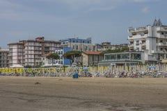 在度假在Lido二耶索洛的(在海滩) 库存图片