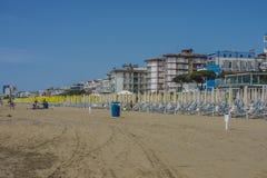 在度假在Lido二耶索洛的(在海滩) 免版税库存照片