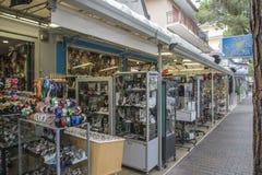 在度假在Lido二耶索洛的(在镇附近) 免版税库存照片