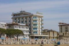 在度假在Lido二耶索洛的(在海滩) 库存照片
