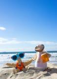 在度假的壳夫妇 免版税库存照片