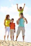 在度假的家庭 免版税库存图片