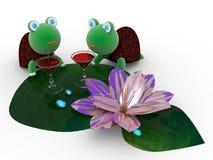 在度假的草龟喝鸡尾酒 图库摄影