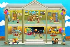 在度假-横断面的种类-演奏乐趣和教育-孩子的例证 免版税库存图片