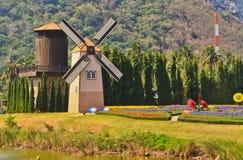 在庭院的涡轮在泰国 免版税库存图片