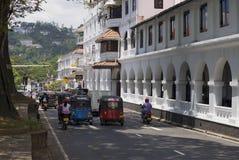 在康提上街道  斯里南卡 免版税库存图片