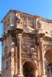 在康斯坦丁曲拱的专栏  库存照片