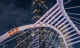 在康镇Nonsi驻地,曼谷,泰国的Skywalk 库存照片