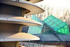 在建筑学的抽象线 现代结构的详细资料 库存图片