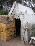 在建筑工地的帐篷 免版税图库摄影