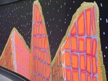 在建造场所囤积居奇的五颜六色的街道画,悉尼,澳大利亚 图库摄影
