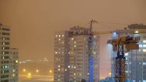 在建造场所的塔吊 股票视频