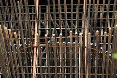 在建造场所的铁棍 免版税图库摄影