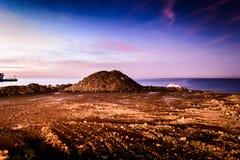 在开垦荒地的岩石堆 免版税图库摄影